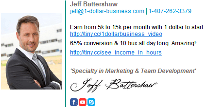 Picture and links and internet signature of Jeff Battershaw